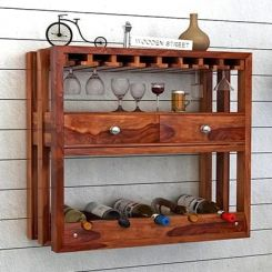 Ferris Wine Rack (Teak Finish)