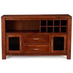 Cory Bar Cabinet (Honey Finish)