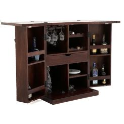 Felisa Bar Cabinet (Walnut Finish)