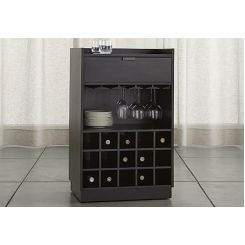 Garnetz Bar Cabinet (Black Finish)