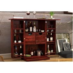 Spence Bar Cabinet (Mahogany Finish)