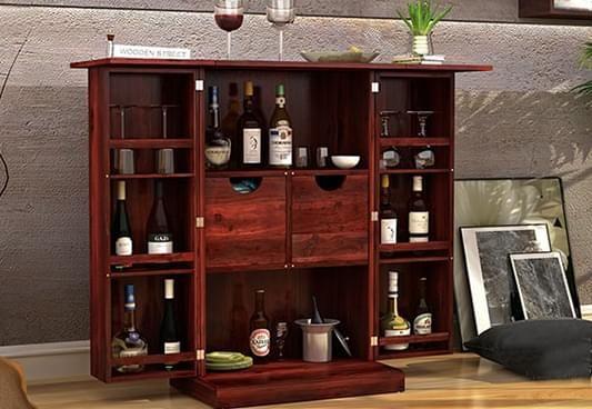 Bar Cabinet Online - Buy Wooden Bar Cabinets Online at Best Price.
