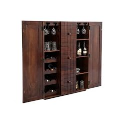 Avril Bar Cabinet (Walnut Finish)