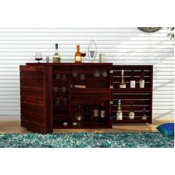Abril Bar Cabinet (Mahogany Finish)