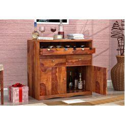 Cowan Bar Cabinet (Teak Finish)