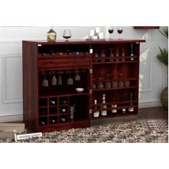 Ester Bar Cabinet (Mahogany Finish)