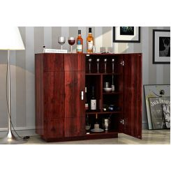 Gormley Bar Cabinet (Mahogany Finish)