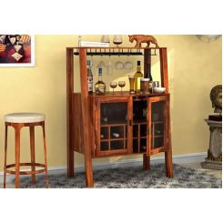 Ortega Bar Cabinet (Teak Finish)