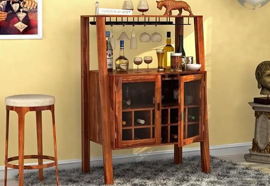 buy wooden bar | corner bar unit online India