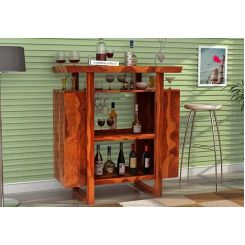 Taran Bar Cabinet (Teak Finish)