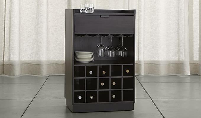 Garnetz Bar Cabinet (Black Finish)-1