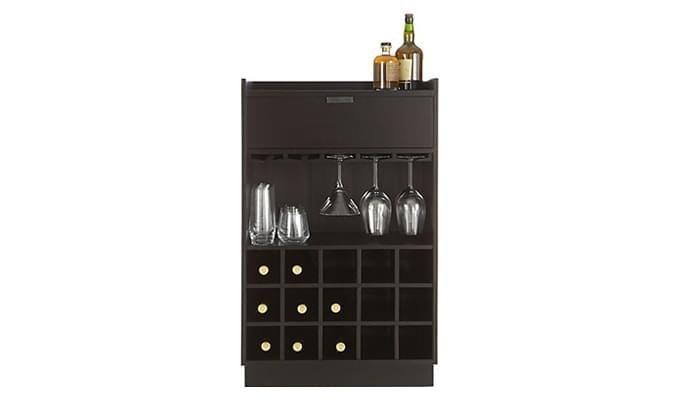 Garnetz Bar Cabinet (Black Finish)-2
