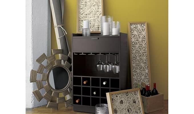 Garnetz Bar Cabinet (Black Finish)-3