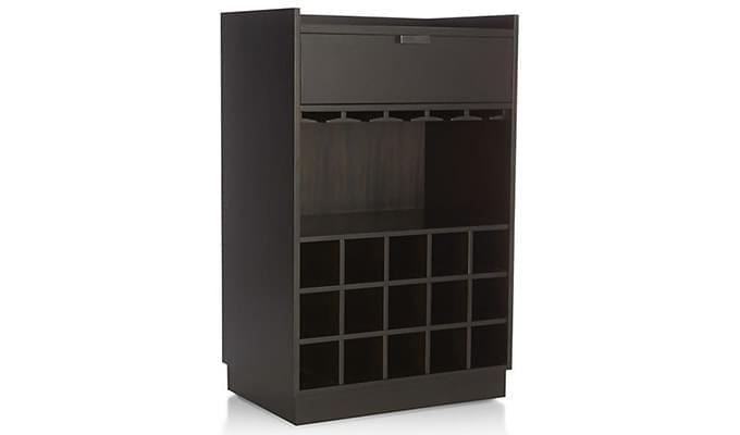 Garnetz Bar Cabinet (Black Finish)-5