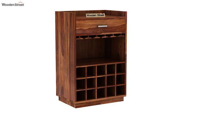 Garnetz Bar Cabinet (Teak Finish)-3