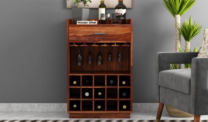Garnetz Bar Cabinet (Teak Finish)-2
