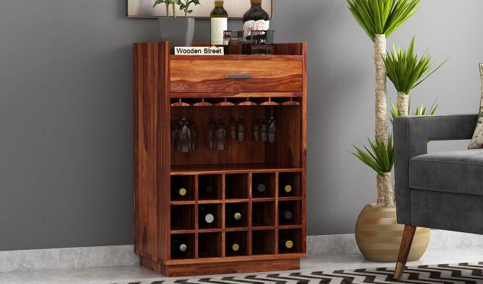 Garnetz Bar Cabinet (Teak Finish)-1