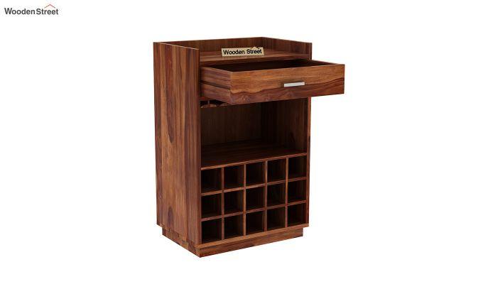 Garnetz Bar Cabinet (Teak Finish)-5