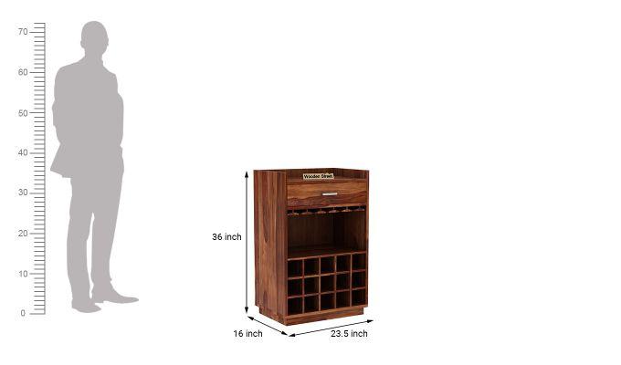 Garnetz Bar Cabinet (Teak Finish)-6