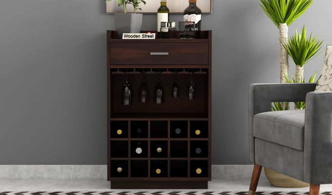 Garnetz Bar Cabinet (Walnut Finish)-2