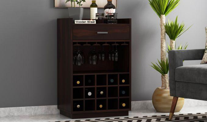 Garnetz Bar Cabinet (Walnut Finish)-1