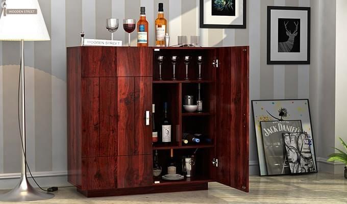 Gormley Bar Cabinet (Mahogany Finish)-1