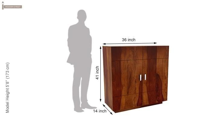 Gormley Bar Cabinet (Honey Finish)-8