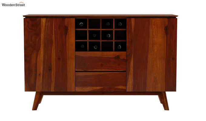 Hamlet Bar Cabinet (Honey Finish)-4