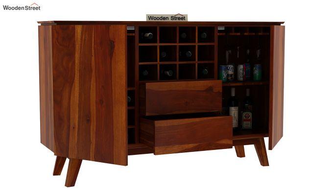 Hamlet Bar Cabinet (Honey Finish)-5