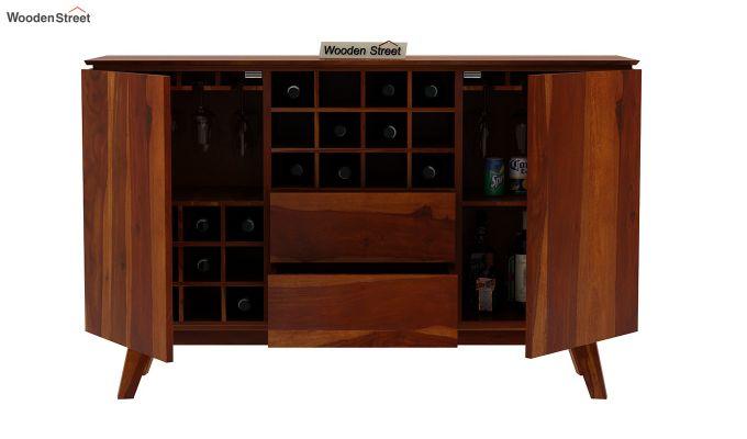 Hamlet Bar Cabinet (Honey Finish)-6