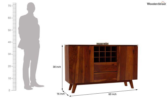 Hamlet Bar Cabinet (Honey Finish)-8