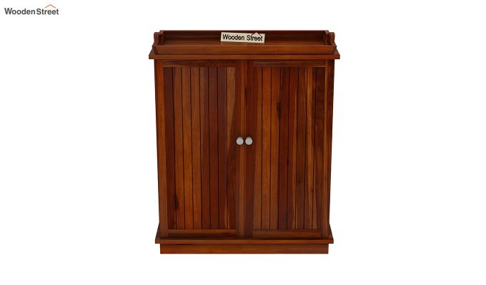Hampton Bar Cabinet (Honey Finish)-4