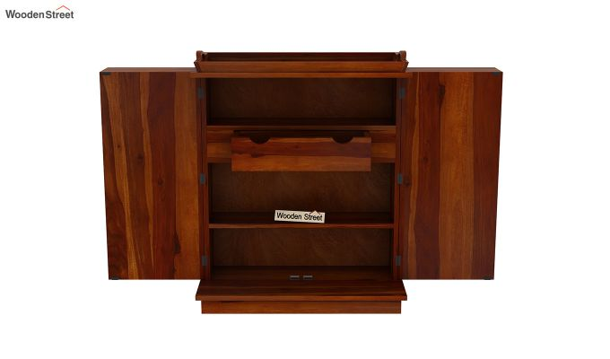 Hampton Bar Cabinet (Honey Finish)-6