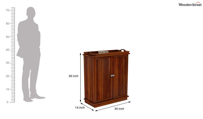 Hampton Bar Cabinet (Honey Finish)-9