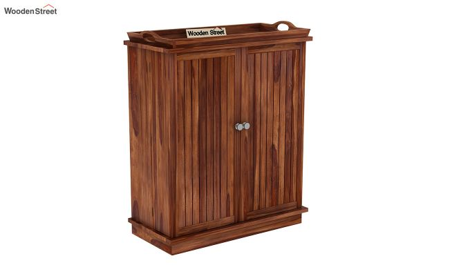 Hampton Bar Cabinet (Teak Finish)-3