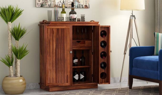 Hampton Bar Cabinet (Teak Finish)-1