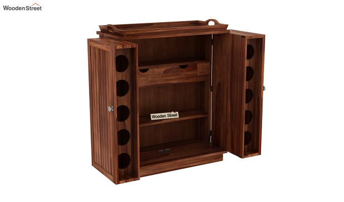 Hampton Bar Cabinet (Teak Finish)-7