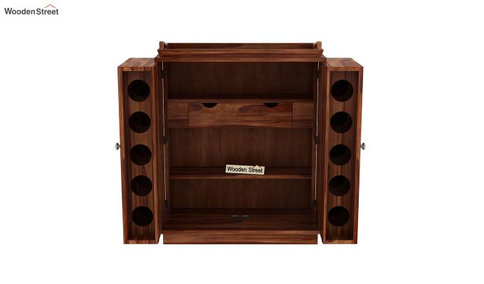 Hampton Bar Cabinet (Teak Finish)-8