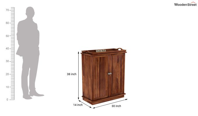 Hampton Bar Cabinet (Teak Finish)-9