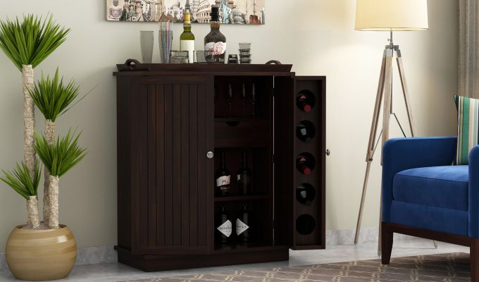 Hampton Bar Cabinet (Walnut Finish)-1