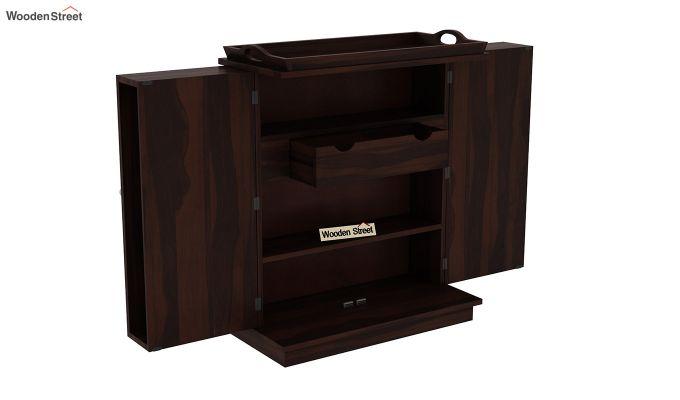 Hampton Bar Cabinet (Walnut Finish)-5