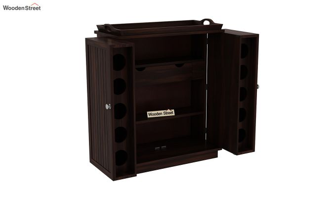 Hampton Bar Cabinet (Walnut Finish)-7