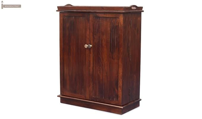 Hampton Bar Cabinet (Honey Finish)-1
