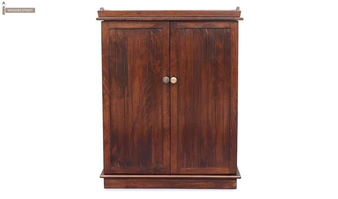 Hampton Bar Cabinet (Honey Finish)-2