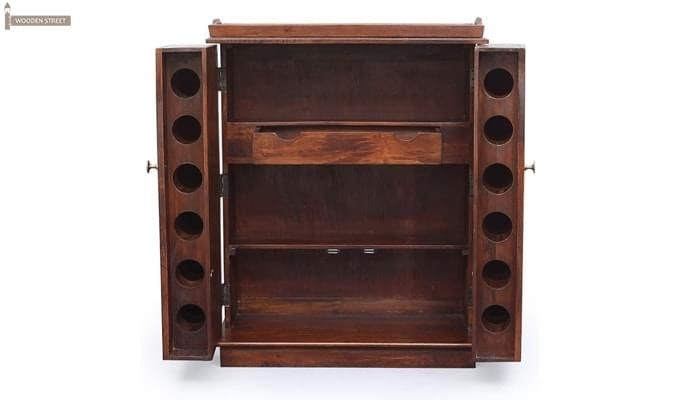 Hampton Bar Cabinet (Honey Finish)-3