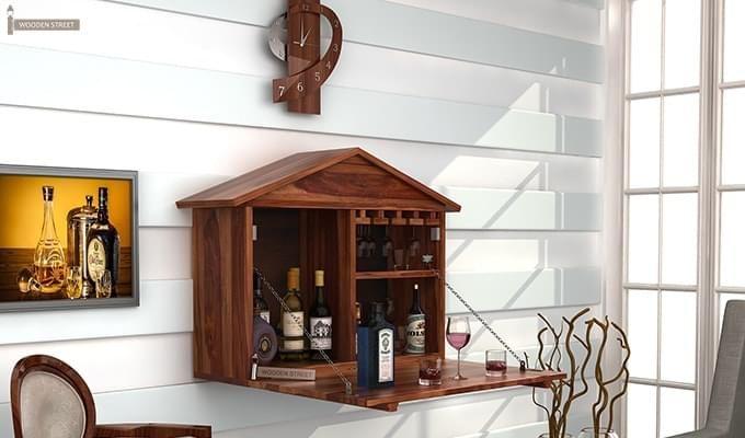 Hansvon Wine Rack (Teak Finish)-1