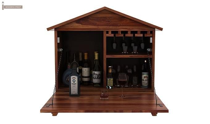 Hansvon Wine Rack (Teak Finish)-5