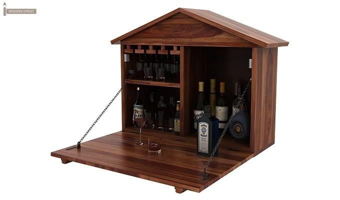 Hansvon Wine Rack (Teak Finish)-7