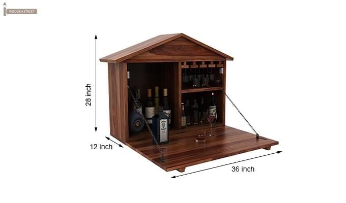 Hansvon Wine Rack (Teak Finish)-10