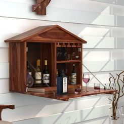 Hansvon Wine Rack (Teak Finish)
